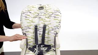 Chicco Stack Highchair - Converting booster from high-back to low-back