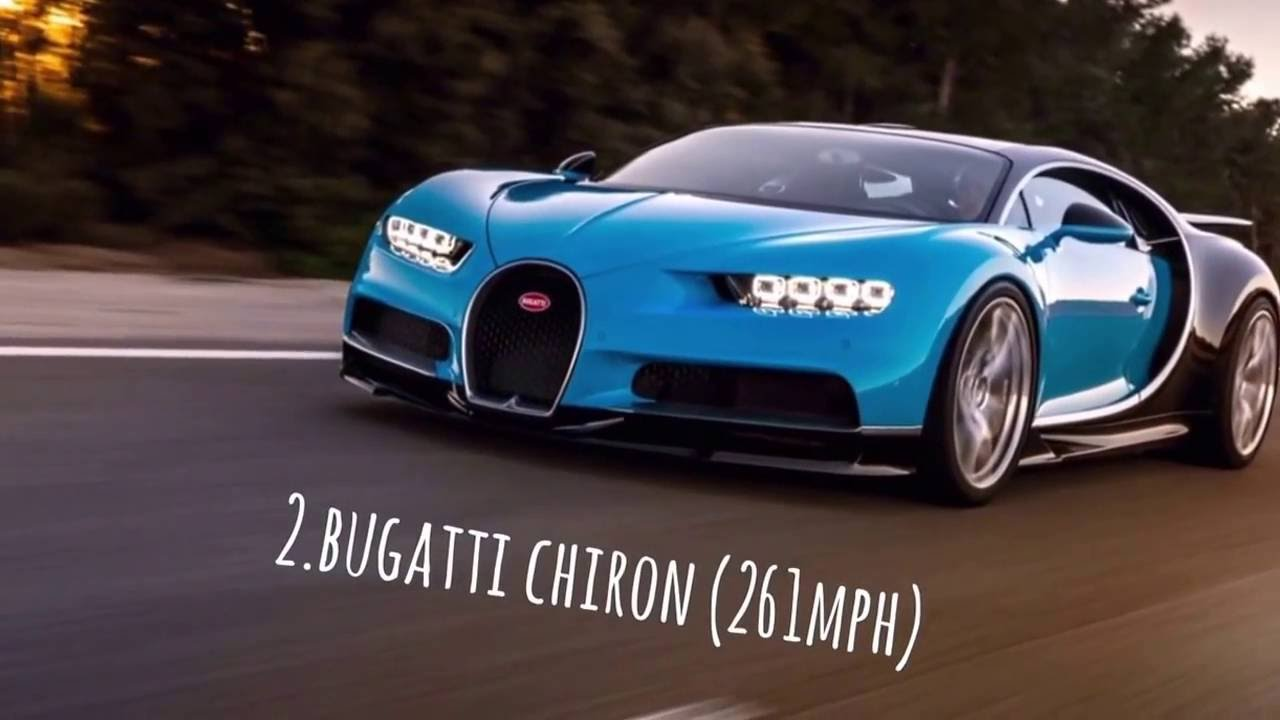 Top 3 Fastest Cars In The World 2016