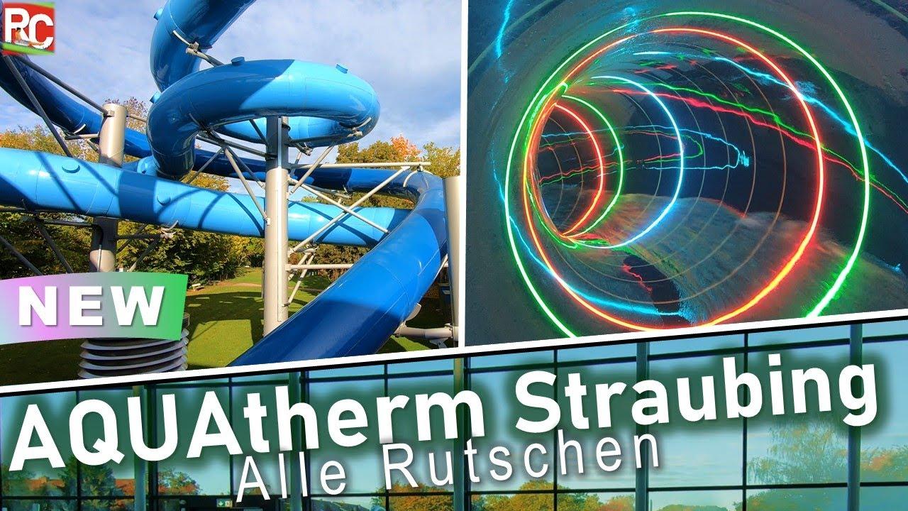 Download Neue Wasserrutschen im AQUAtherm Straubing – Impressionen (alle Attraktionen) 2021 | Water Slides
