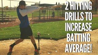 2 baseball hitting drills that will increase your batting average