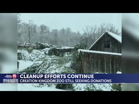 Cleanup efforts continue for Creation Kingdom Zoo