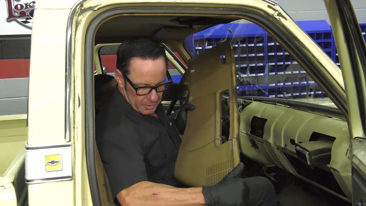 small resolution of sam s garage s2 e2 73 87 chevy gmc truck dash pad installation