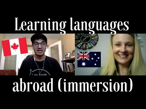 Learning Languages Abroad through immersion (English Listening Practice)