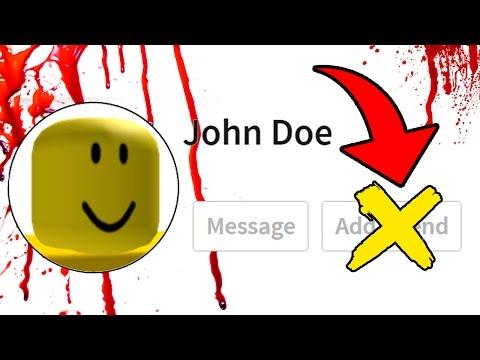 NO AGREGUES A JOHN DOE COMO AMIGO EN ROBLOX  Cuidado