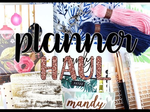 Planner Supplies Haul: Stickers, Pens, Covers + more! | #MPBDAY SERIES
