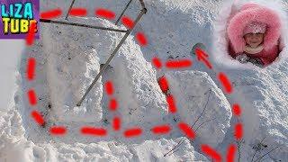Строим Лабиринт ИЗ СНЕГА для Таффи Снежная полоса препятствий для собаки LizaTube