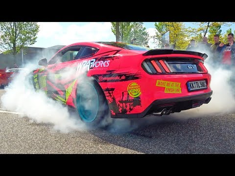 500HP Ford Mustang GT W/ Roush Exhaust! BURNOUT, Revs & More!