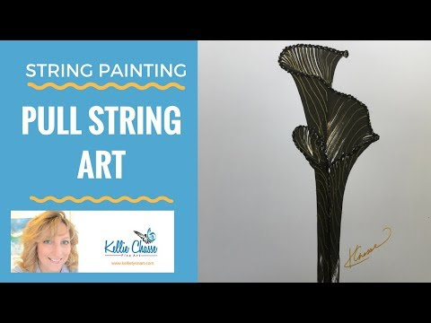 String Painting - Pull String Art with Paints