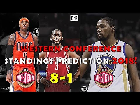 2018 Western Conference Standings Prediction (8-1)