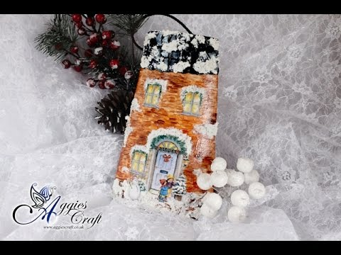 Decoupage Tutorial - Christmas Roof Tile - DIY Tutorial