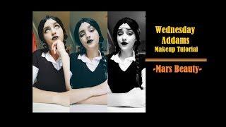 Wednesday Addams Halloween Makeup Tutorial -Mars Beauty-