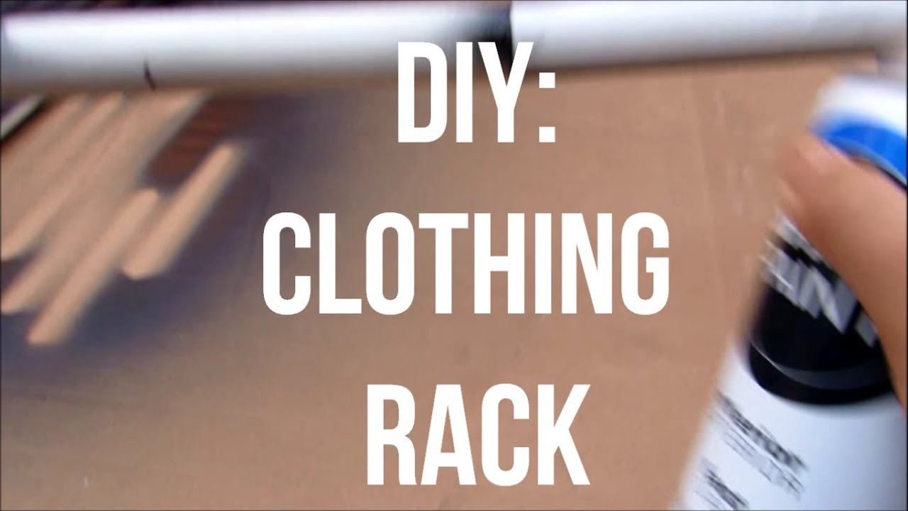 Diy Pvc Clothing Rack Youtube