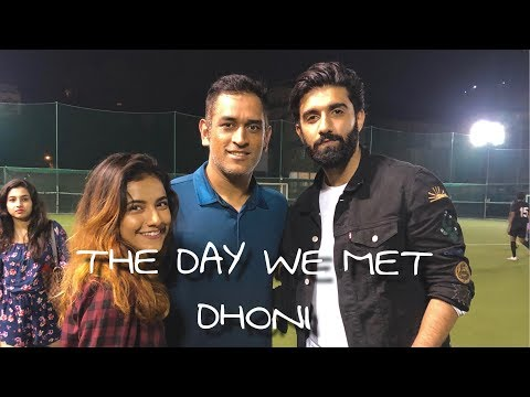 | THE DAY WE MET DHONI | ft MRUNU