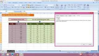 Excel Lock Protect Specific Cells