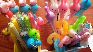 Đồ chơi trẻ em VIẾT KIỂU HÌNH HELLO KITTY, HÌNH THỎ, ..Toys for kids (Ola ola kids)