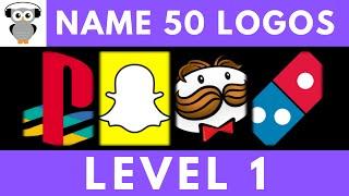 Guess The Logo Quiz  50 Logos   Level 1 Easy   Logo Trivia