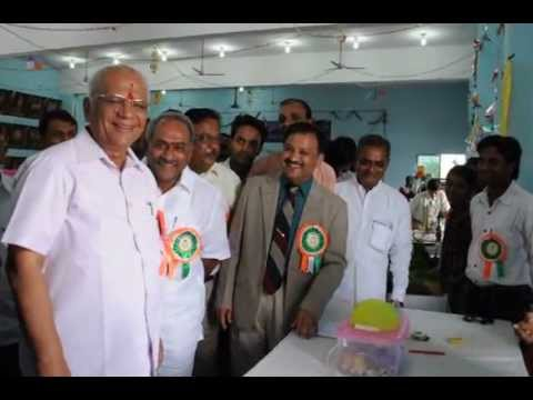 Sainik School Bijapur, Science Exhi, Sri S R Patil, Minister & others with the exhibits,
