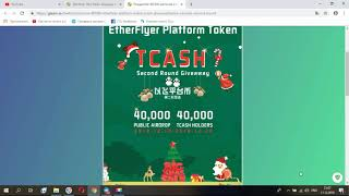 TCASH & TNX Token - Новые крутые Airdrop проекты с раздачей бесплатных токенов от биржи EtherFlyer!