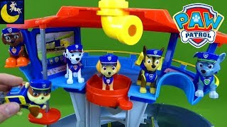Paw Patrol Toy: Cool Look Out Tower Unboxing Toy Review