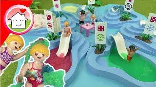 Playmobil Film Familie Hauser - Würfel nicht den falschen Pool - Schleim Pool im Aquapark