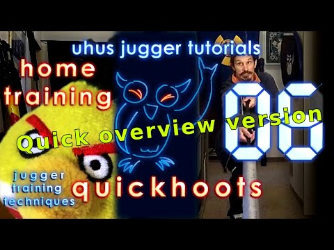 Overview: HOME JUGGER fencing footwork/attack training, for Staff and others  [UJT quickhoots #06]
