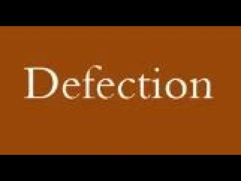 Defection means