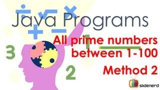#41 Java Program Prime Numbers Method 2 Code [HD 1080p]