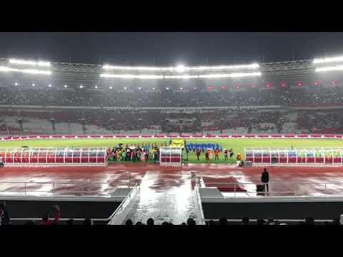 LAGU INDONESIA RAYA BERKUMANDANG DI PERESMIAN STADION UTAMA GELORA BUNG KARNO-INDONESIA VS ISLANDIA