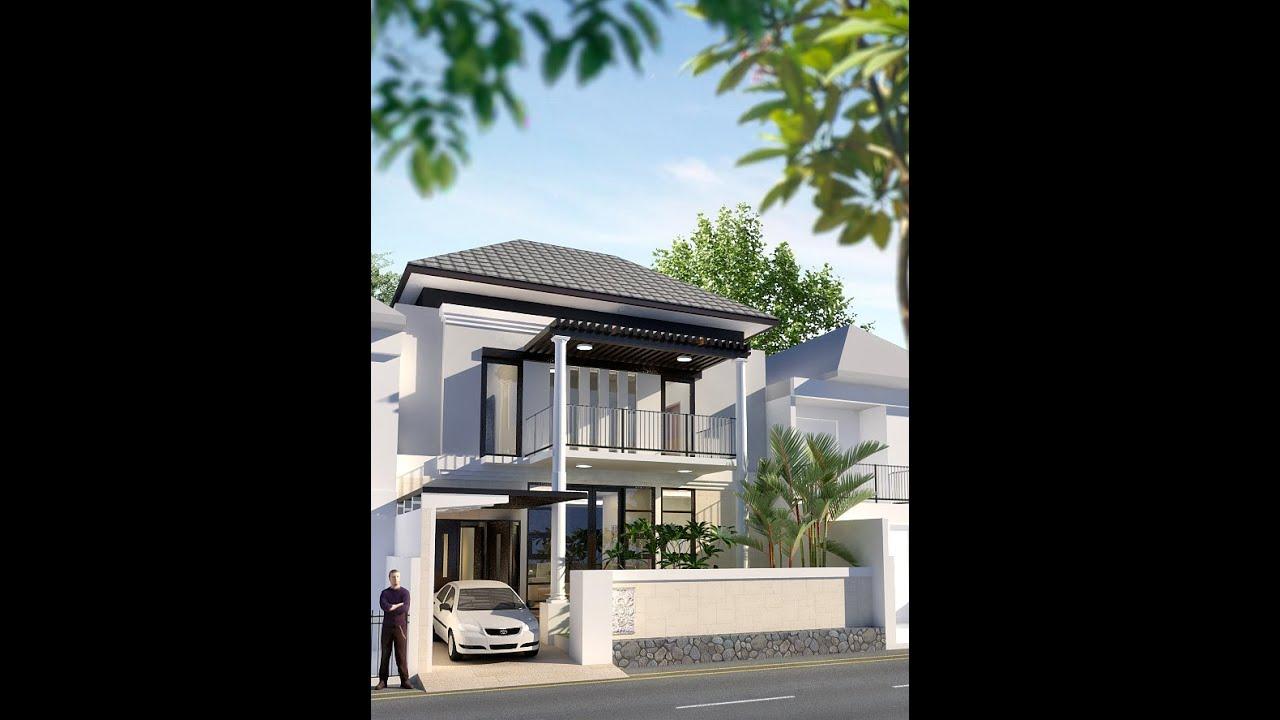 A Desain Rumah Klasik Minimal 10x15m Desain Siap Pakai Kode 018