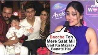 Cover images Kareena Kapoor's FUNNY Reaction On Saif Ali Khan & KIDS Sara, Ibrahim & Taimur Bonding At Ishq Fm