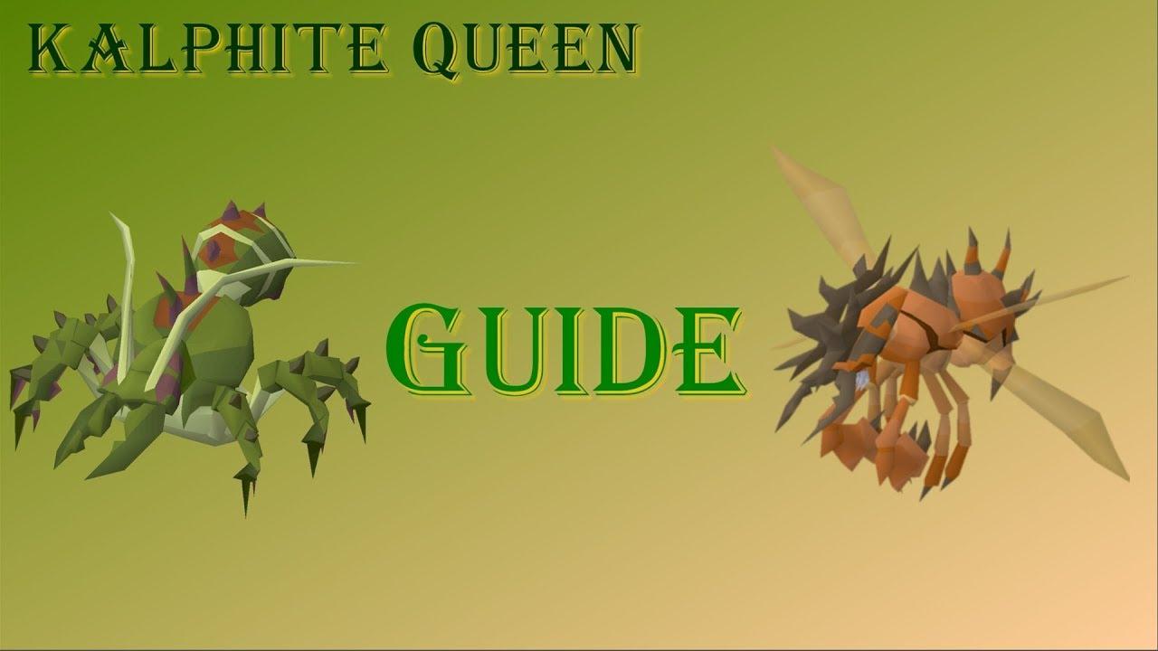 English In Italian: OSRS KQ (Kalphite Queen) Solo Guide