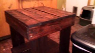 The Secret Life Of The Dumpster Divers: Pallet End Table