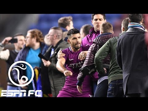 Sergio Aguero involved in incident with Wigan fan after Manchester City