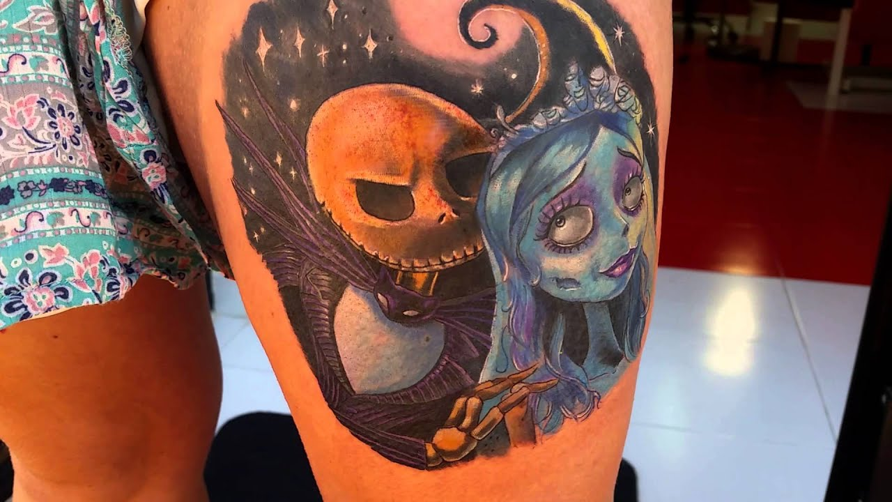 tattoo nightmare before christmas - YouTube