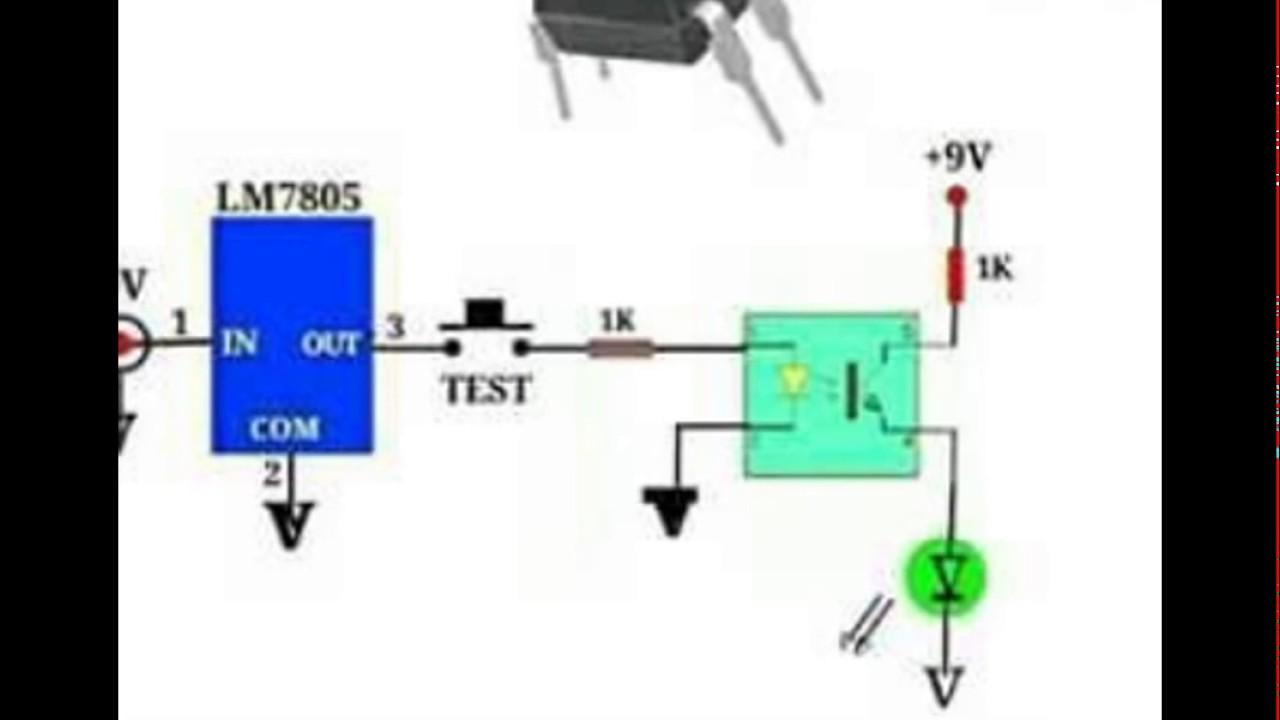 Circuito Optoacoplador : Probador de optoacoplador para armar youtube
