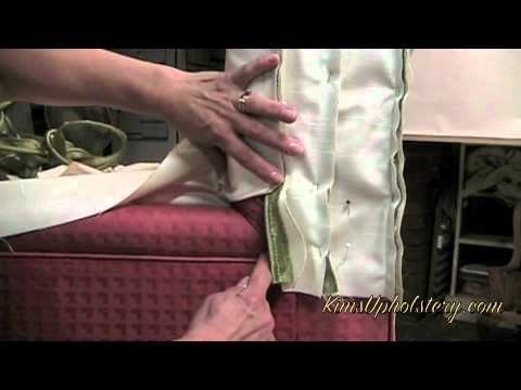 How To Make A Slipcover For A Slipper Chair..m4v