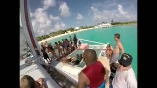 St. Martin party cruise Lambada Catamaran.