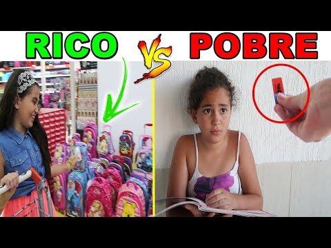 RICO VS POBRE - MATERIAL ESCOLAR