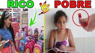 RICO e POBRE - MATERIAL ESCOLAR