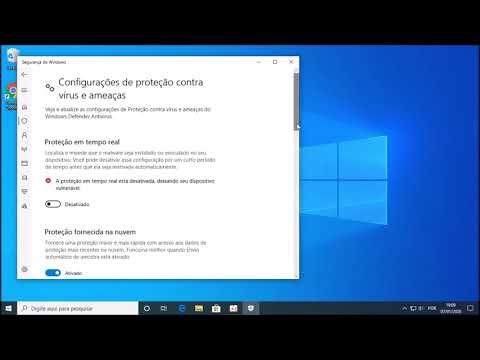 Windows 10: Desativando a proteção em tempo real do Windows Defender