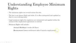 BUSL3 Employment Legislation