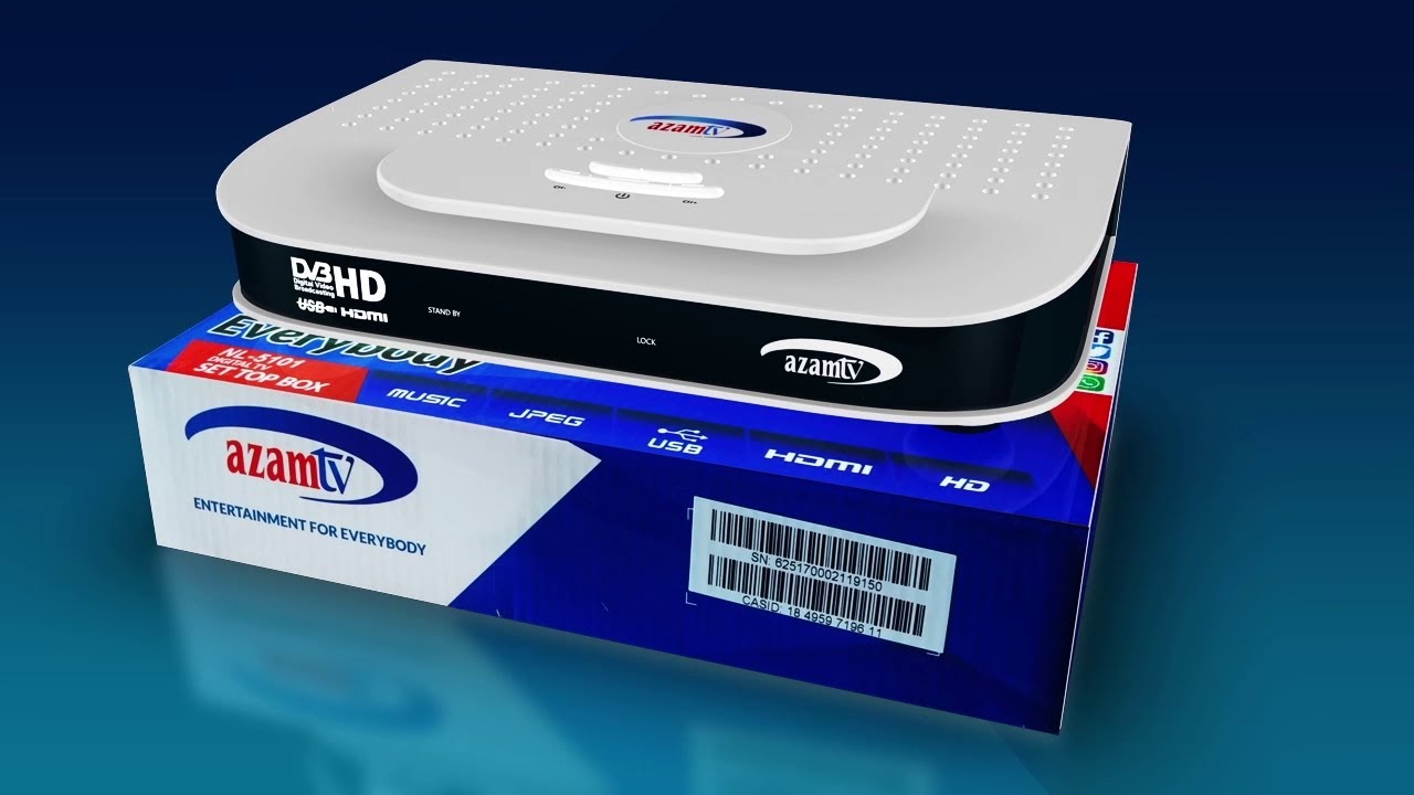 AZAM TV FULL KIT: (New Decoder+Dish antenna & Accessories + 2 Free Months)