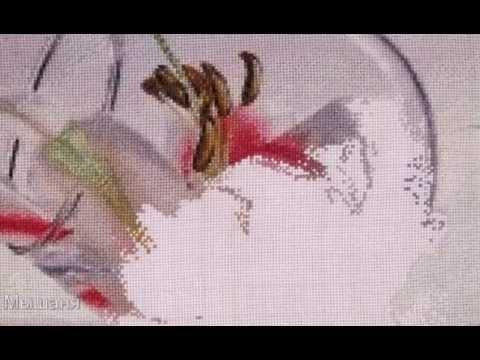 """Вышивка """"Лилия в бокале"""" По"""