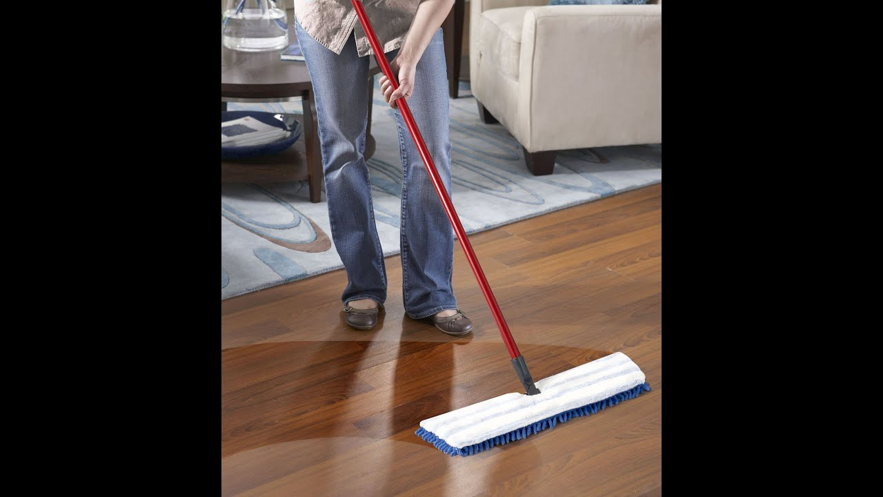 Review Dual Action Microfiber Flip Mop Youtube