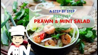 Quick and Delicious PRAWN and MINT SALAD