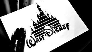 How to draw Disney Logo / Как нарисовать лого Дисней  / DA