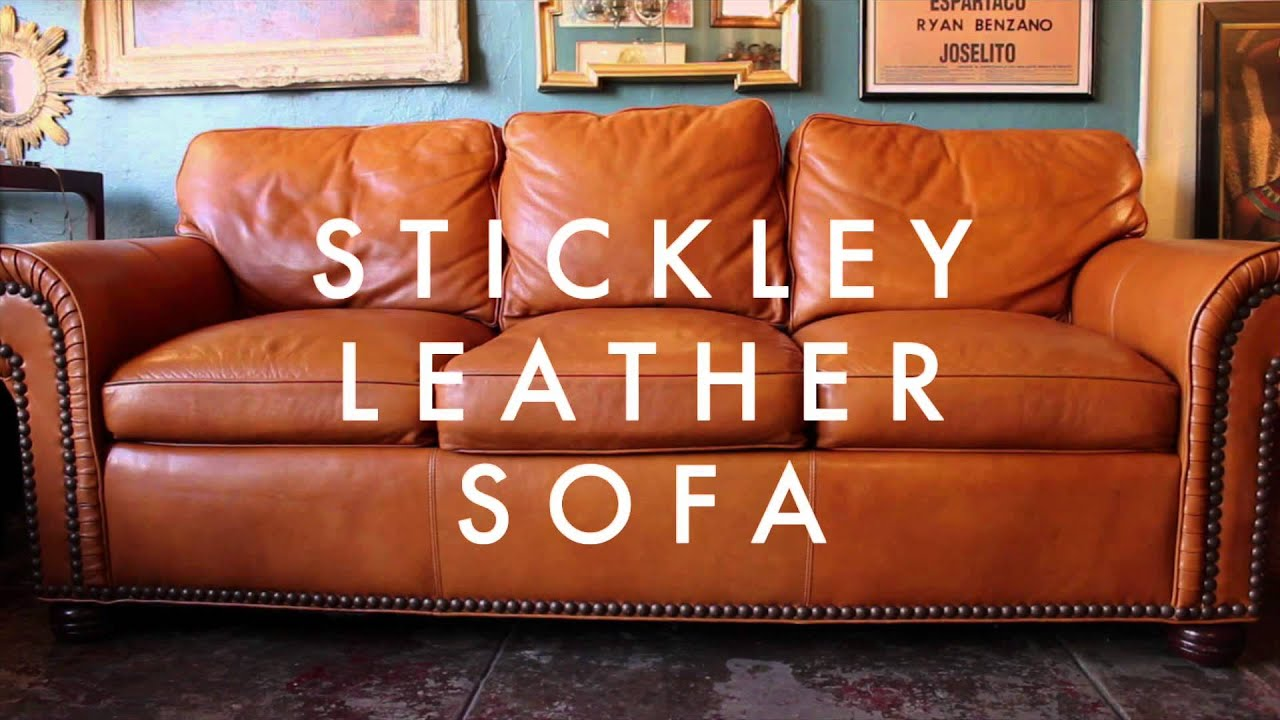 stickley furniture leather sofas best chesterfield sofa maker casa victoria vintage