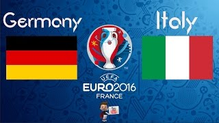 Germany vs Italy 1 - 1 Germany wins 6-5 on penalties. My analysis. Prediction. See description