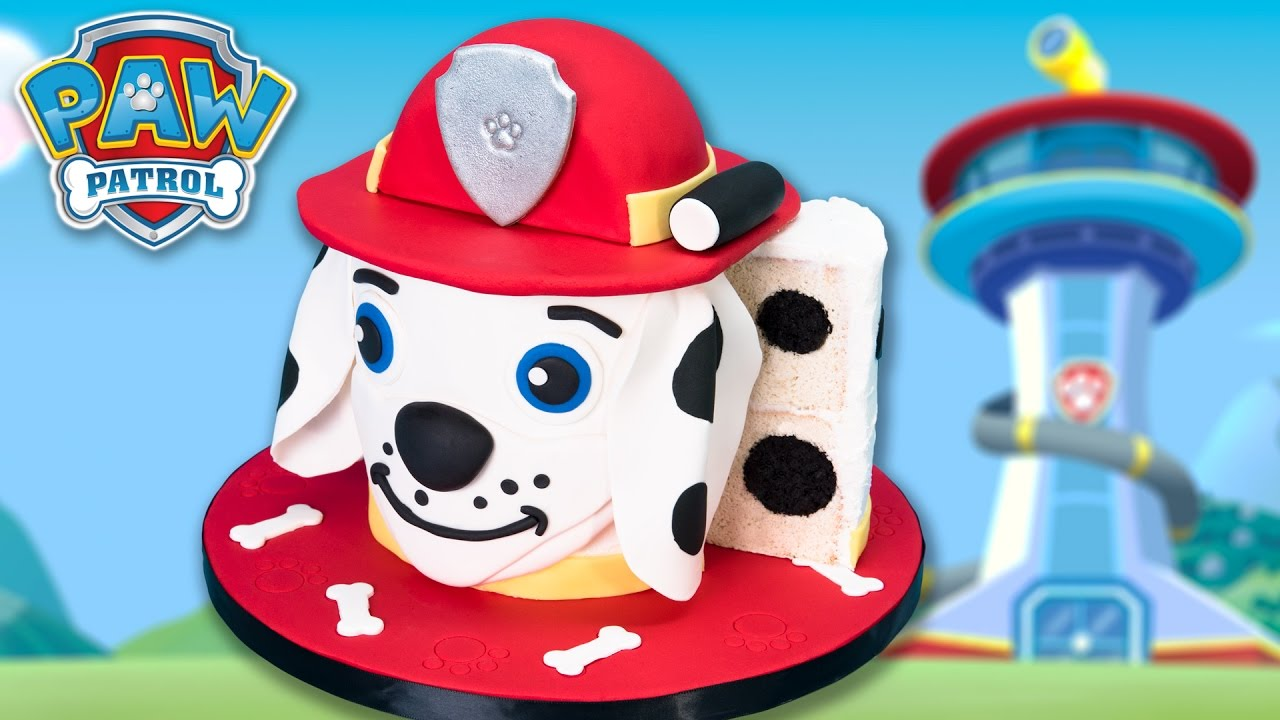 Marshall Paw Patrol Cake Dalmatian Dog From The Popular Toys