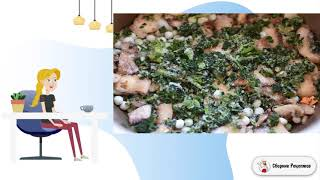 Рис с грибами овощами и шпинатом Рецепты блюд с фото